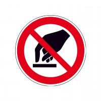 Verbotszeichen Berühren verboten nach BGV A8 (P08)