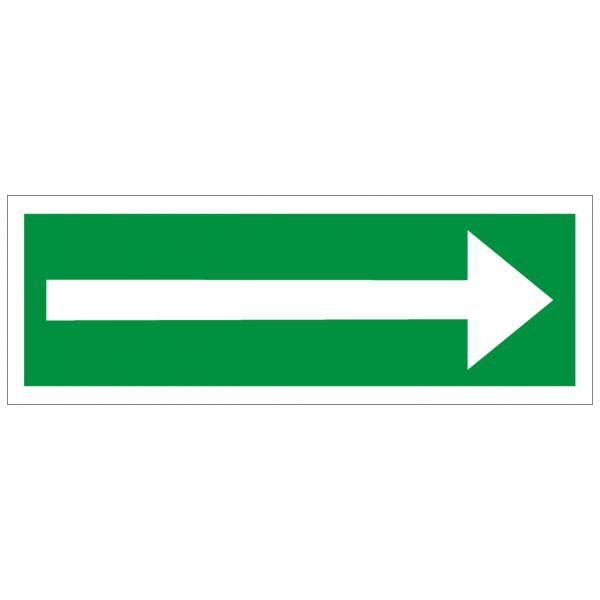 Rettungszeichen mit Richtungspfeil links/rechts
