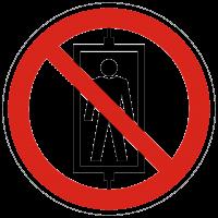 Verbotszeichen Personenbeförderung (Seilfahrt) verboten nach BGV A8 (P13)