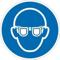 Gebotszeichen Augenschutz benutzen nach ISO 7010 (M004)