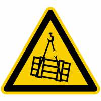 Warnzeichen Warnung vor schwebender Last nach BGV A8 (W06)