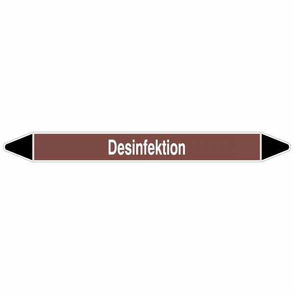 Brady Rohrmarkierer mit Text Desinfektion, 250 x 26 mm