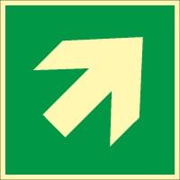 Rettungszeichen Richtungsangabe aufwärts/abwärts nach ISO 7010 (E006) / ASR A1.3