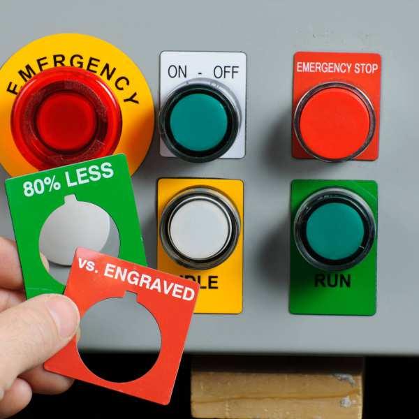Brady Typenschilder für Drucktasten B-593 aus Polyester für BBP3x Drucker