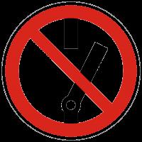 Verbotszeichen Nicht schalten nach BGV A8 (P10)
