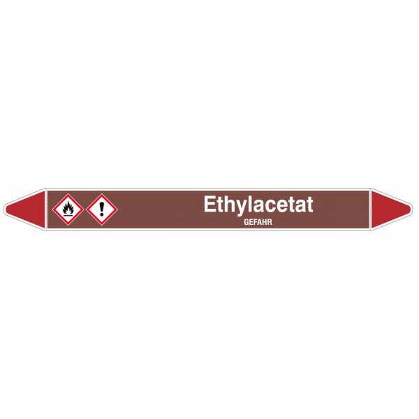 Brady Rohrmarkierer mit Text Ethylacetat - GEFAHR