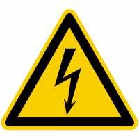 Warnung vor gefährlicher elektrischer Spannung nach BGV A8 (W08)