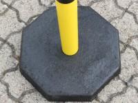 Mobile Fußplatte für Kettenpfosten rund Ø 60 mm