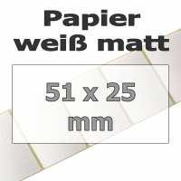 Papier-Etiketten - weiß matt (5180 Stk. auf Rolle)
