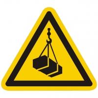 Warnzeichen Warnung vor schwebender Last nach ISO 7010 (W015)