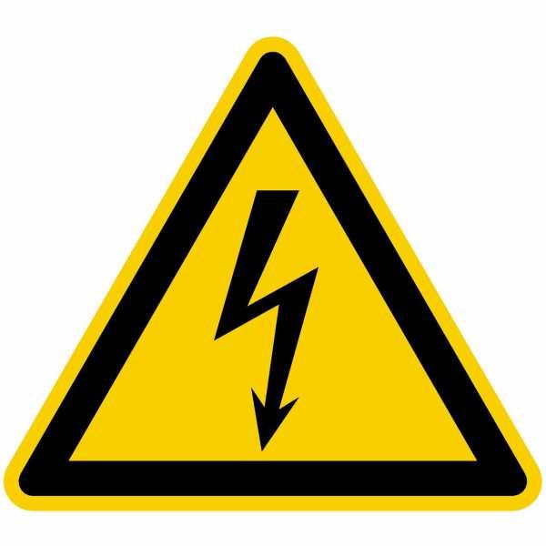 Warnzeichen Warnung vor gefährlicher elektrischer Spannung nach BGV A8