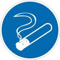 Gebotszeichen Rauchen gestattet