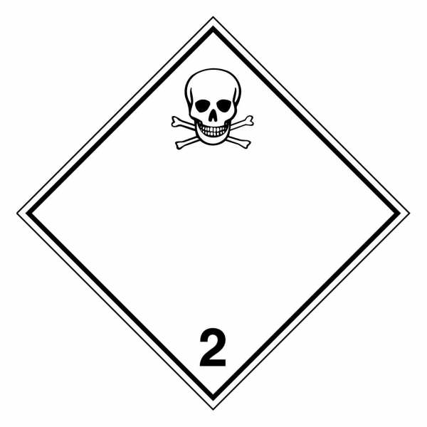 Gefahrzettel Giftige Gase Klasse 2.3