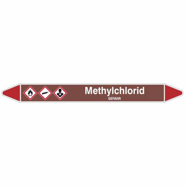 Brady Rohrmarkierer mit Text Methylchlorid - GEFAHR