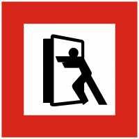 Brandschutzschild mit Piktogramm Brandschutztür schließen