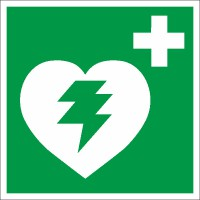 Rettungszeichen Defibrillator nach BGV A8 (E17)