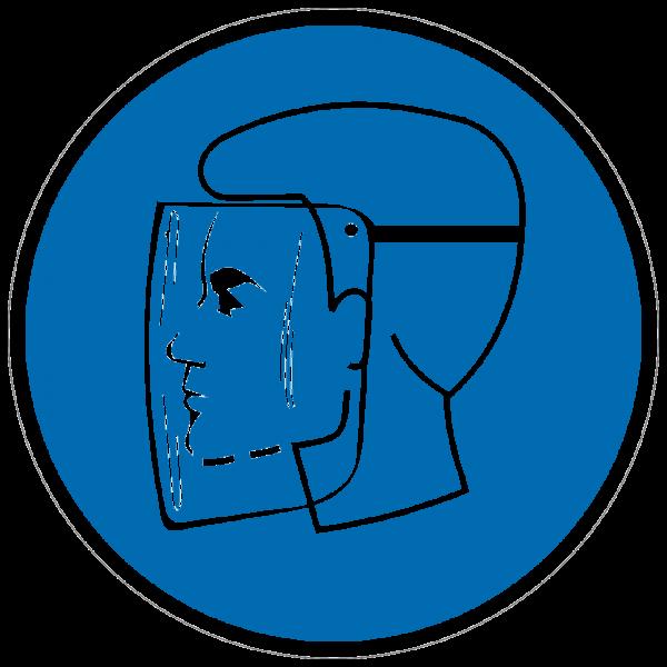 Gebotszeichen Gesichtsschutz benutzen nach BGV A8 (M08)