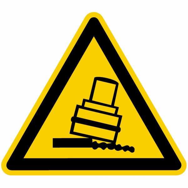 Warnung vor Kippgefahr beim Walzen nach BGV A8 (W24)