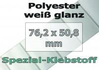 Polyester-Etiketten - weiß glanz (500 Stk.)
