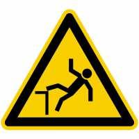 Warnung vor Absturzgefahr nach BGV A8 (W15)