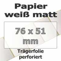 Papier-Etiketten - weiß matt (3292 Stk. auf Rolle)