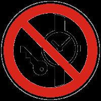 Verbotszeichen Mitführen von Metallteilen und Uhren verboten nach BGV A8 (P20)