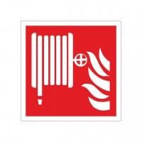 Brandschutzzeichen Löschschlauch nach ISO 7010 (F002)