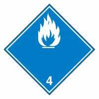 Unterklasse 4.3 - Desensibilisierte explosive Stoffe (weiße Flamme)