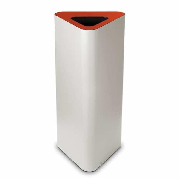 Design-Abfallbehälter PURE ELEGANCE 60 Liter mit Deckel und Piktogramm