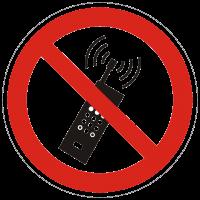 Verbotszeichen Mobilfunk verboten nach BGV A8 (P18)