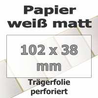 Papier-Etiketten - weiß matt (4225 Stk. auf Rolle)