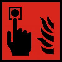 Brandschutzzeichen Brandmelder nach ISO 7010 (F005)