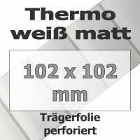Thermo-Etiketten - weiß matt (700 Stk. auf Rolle)