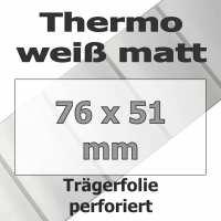 Thermo-Etiketten - weiß matt (1370 Stk. auf Rolle)