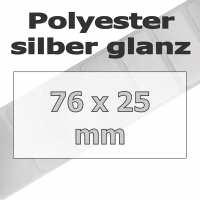 Polyester-Etiketten - silber glanz (5180 Stk. auf Rolle)