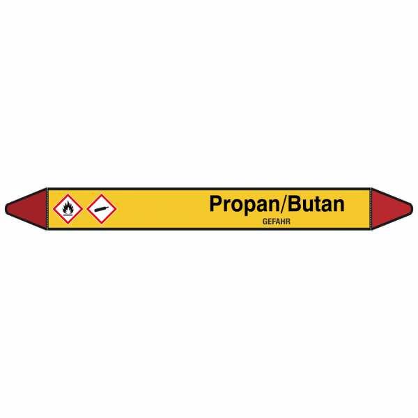 Brady Rohrmarkierer mit Text Propan/Butan - GEFAHR