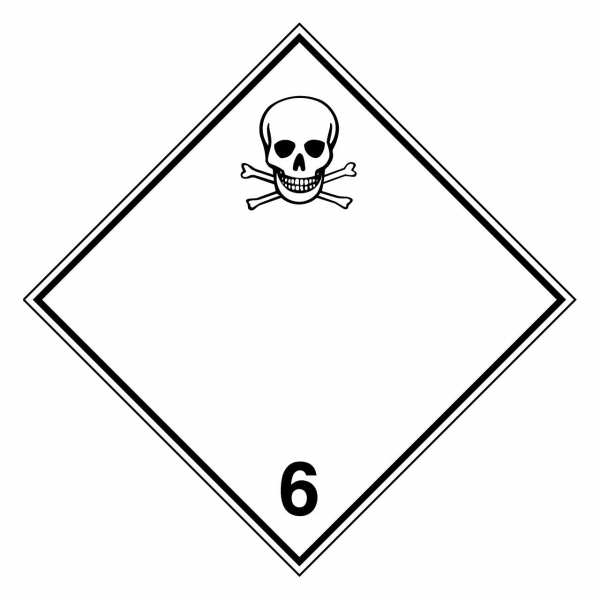Gefahrzettel Giftige Stoffe Klasse 6.1