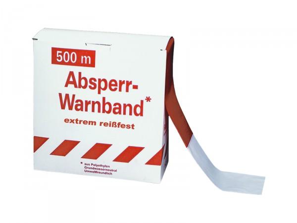Absperrband -Reißfest- rot-weiß, 500 m