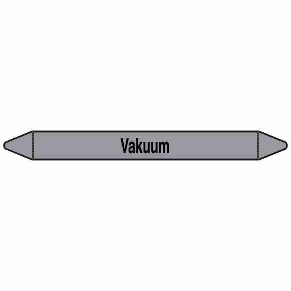 Brady Rohrmarkierer mit Text Vakuum
