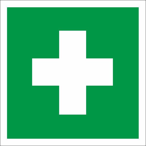 Erste hilfe symbol  Rettungszeichen Erste Hilfe nach BGV A8 (E03) / ASR A1.3 | SQS