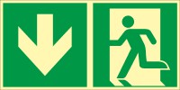 Rettungszeichen Rettungsweg durch Notausgang nach ISO 7010 (E001) / ASR A1.3