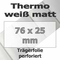 Thermo-Etiketten - weiß matt (2580 Stk. auf Rolle)