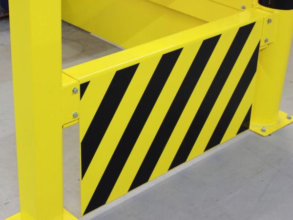 Unterfahrschutz für modulares Sicherheitsgeländer aus Stahl