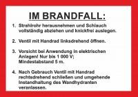 Handhabungsfolie Wandhydrant DIN 14461-6 für FW-Schlauch