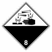Gefahrzettel Ätzende Stoffe Klasse 8