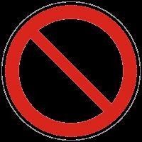 Verbotszeichen Allgemeines Verbotsschild nach BGV A8 (P00)