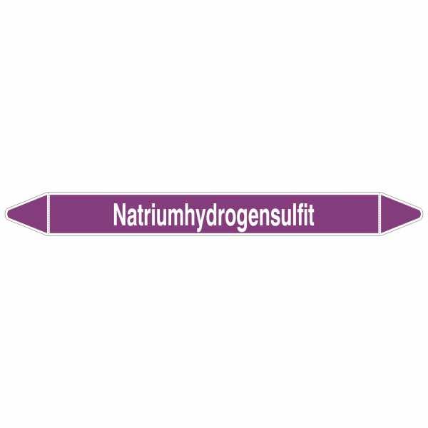 Brady Rohrmarkierer mit Text Natriumhydrogensulfit