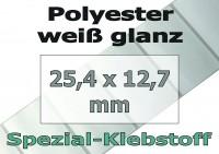 Polyester-Etiketten - weiß glanz (10.000 Stk. auf Rolle)