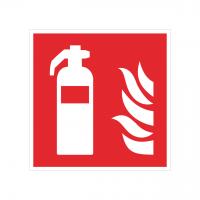 Brandschutzzeichen Feuerlöscher nach ISO 7010 (F001)