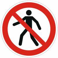 Verbotszeichen Für Fußgänger verboten nach ISO 7010 (P004)